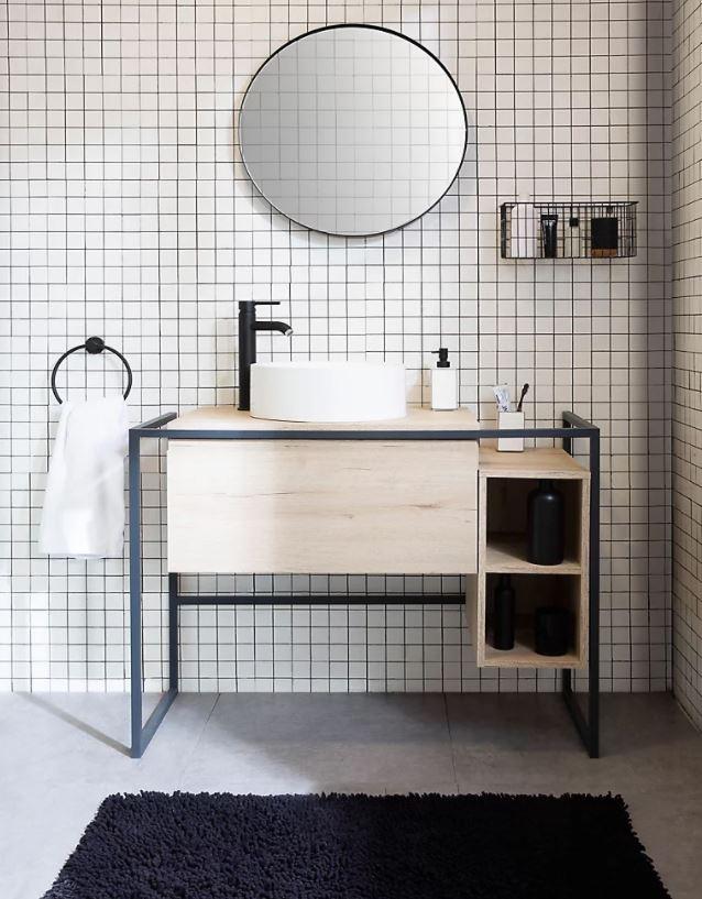 como decorar lavabo baño