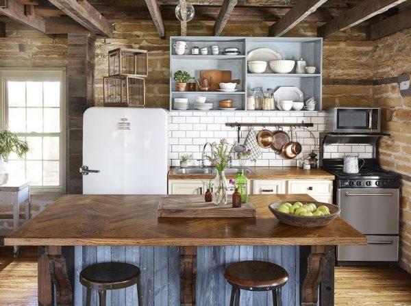 como decorar una cocina estilo campo