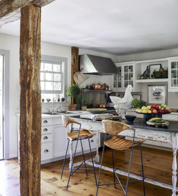 como decorar una cocina rustica vigas de madera