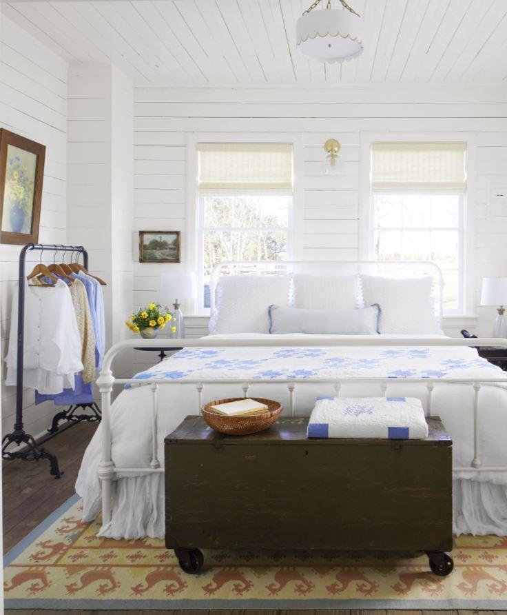cuartos blancos rusticos elegantes