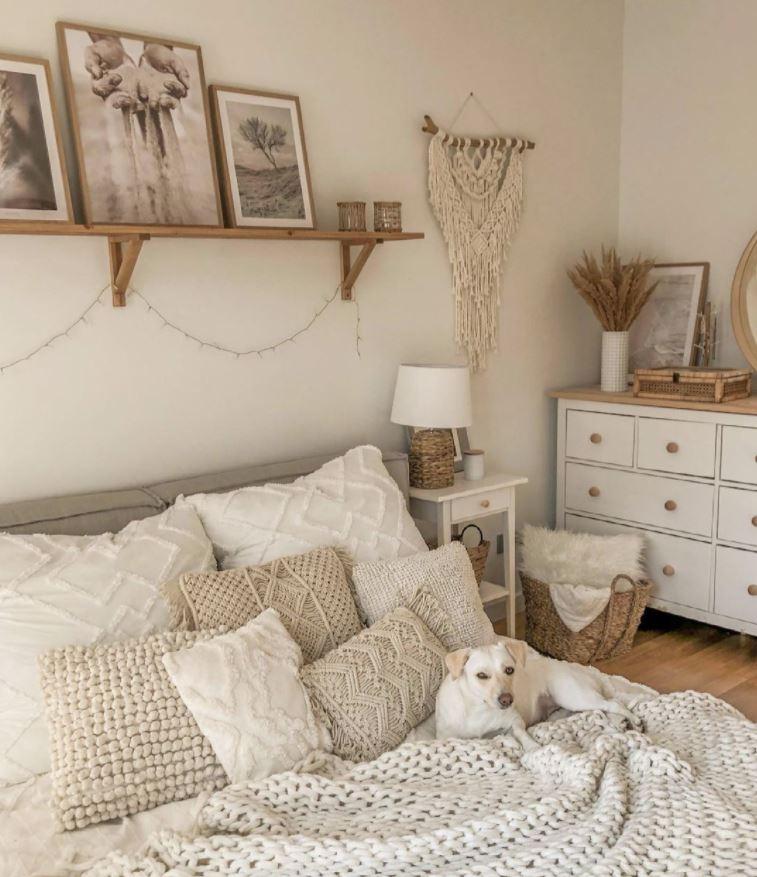 decorar cuartos de matrimonio blancos