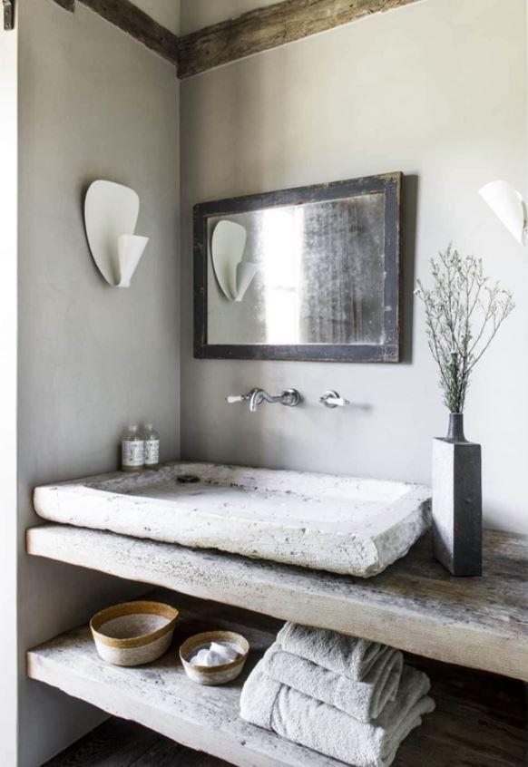 diseños de baños pequeños rusticos