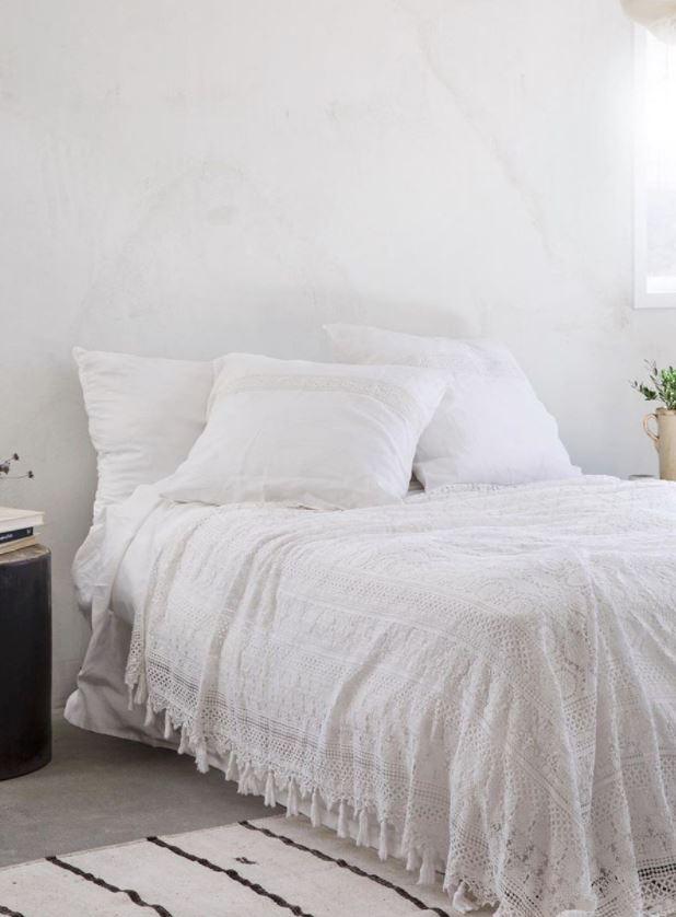 dormitorio matrimonio bohemio blanco