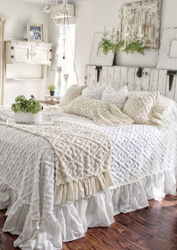 dormitorios rústicos blanco roto