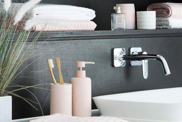 griferia para baño color cobre