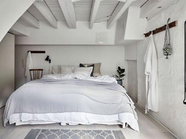 habitacion blanca vintage