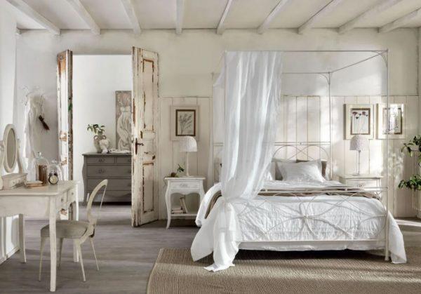 habitaciones matrimonio blancas rusticas