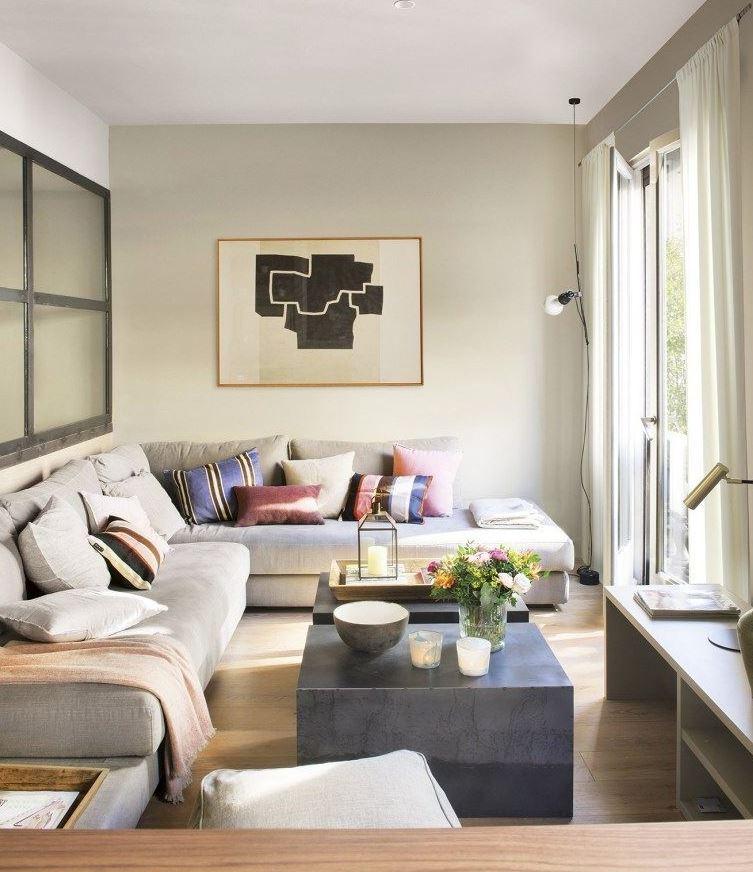 ideas para decorar un salón estrecho