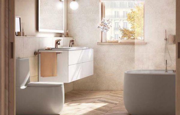 lavabo con mueble para baño pequeño