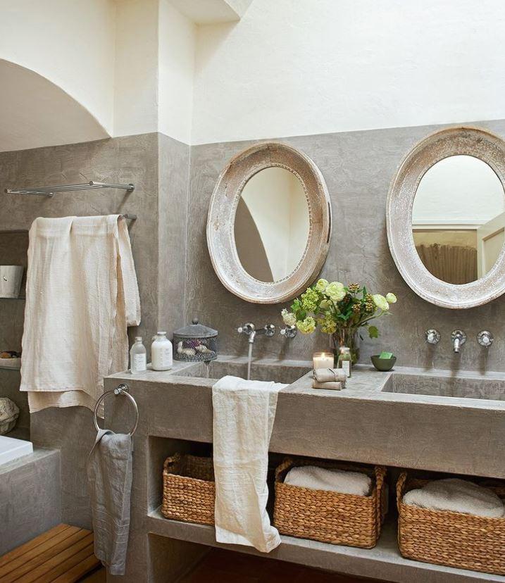 lavabo doble rustico