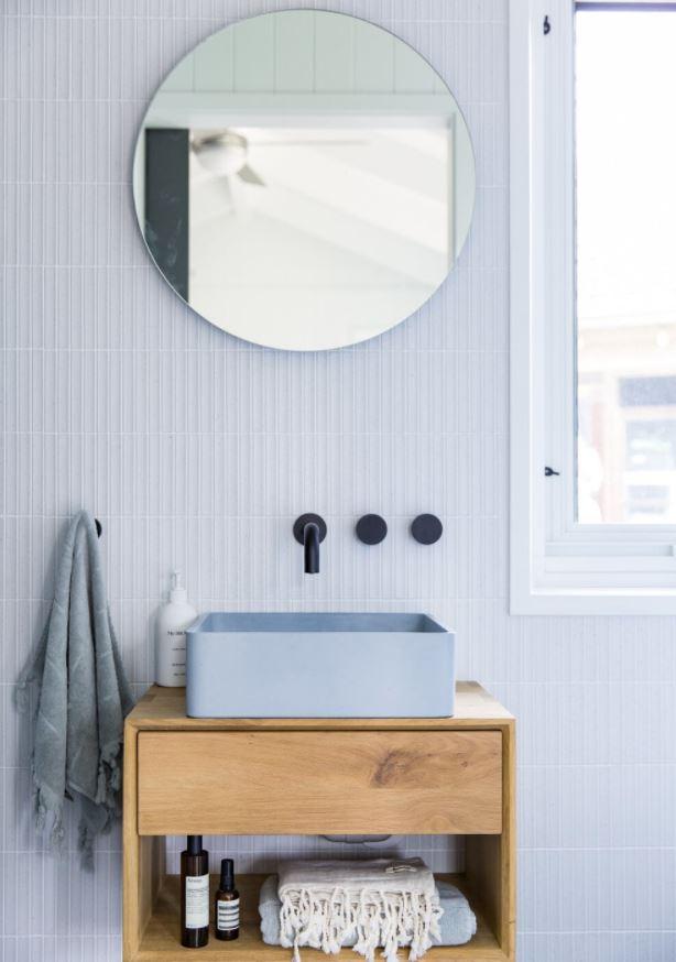 lavabos de baño color azul