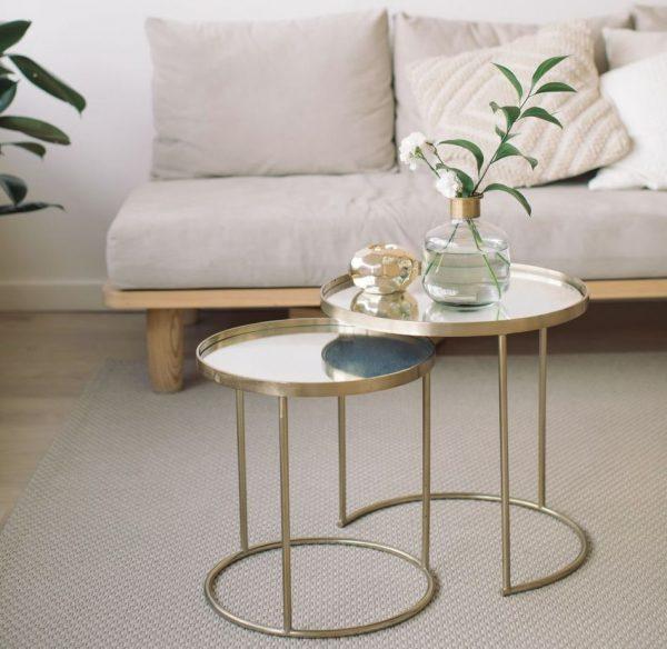 mesa de centro redonda para salon