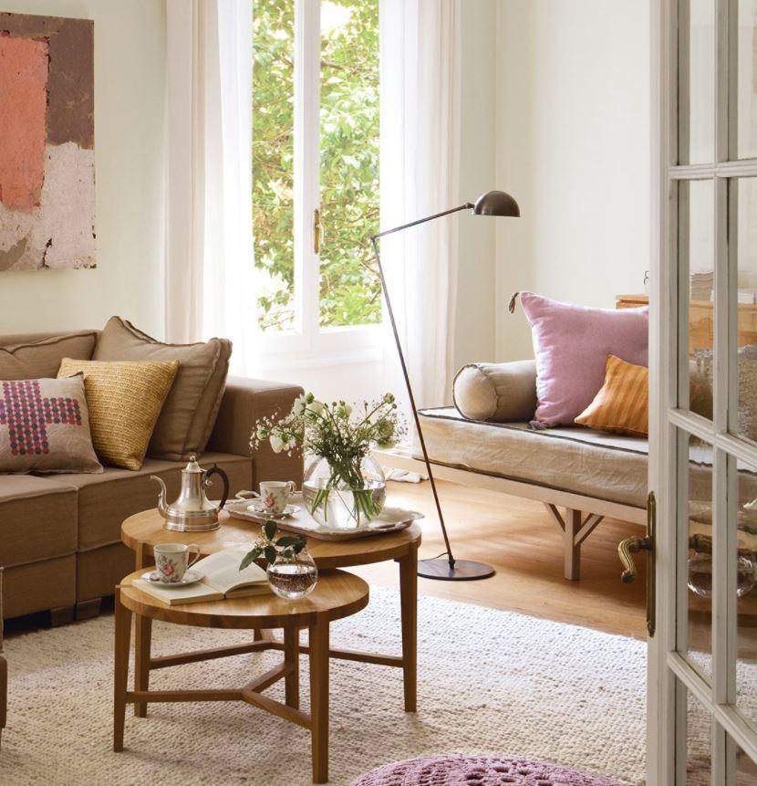 sofas estrechos para salones pequeños