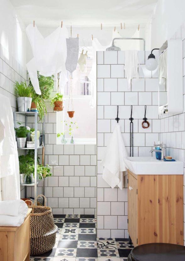 como decorar el baño con plantas naturales