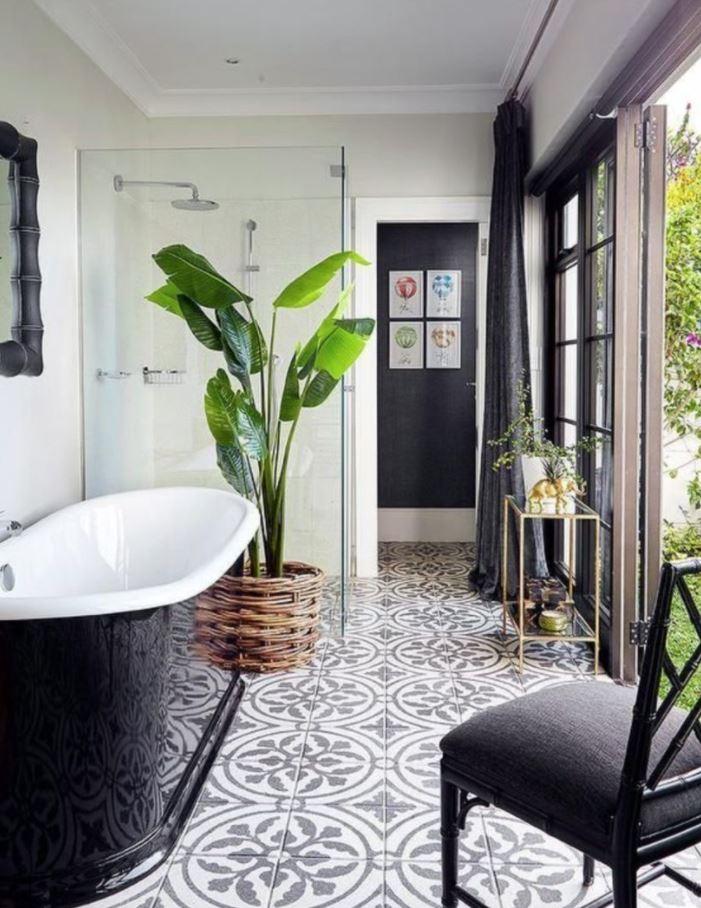 plantas grandes para baños