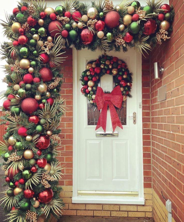adorno puerta navidad guirnalda