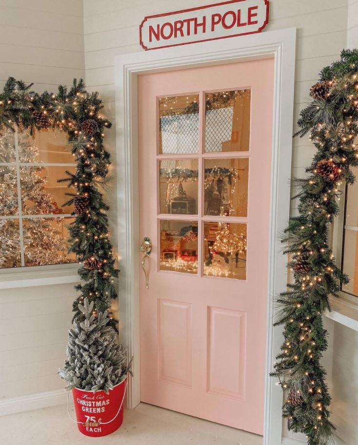 decoracion de puertas de navidad