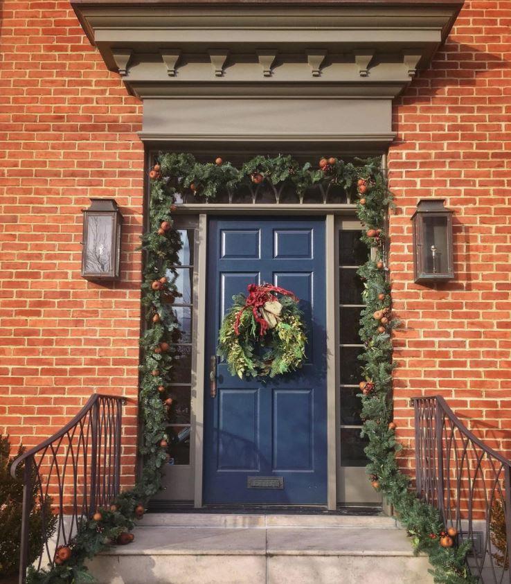 decoracion navidad puerta
