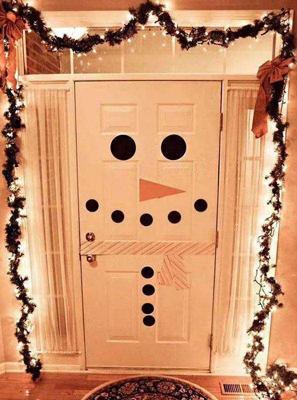 decoracion navidad puertas