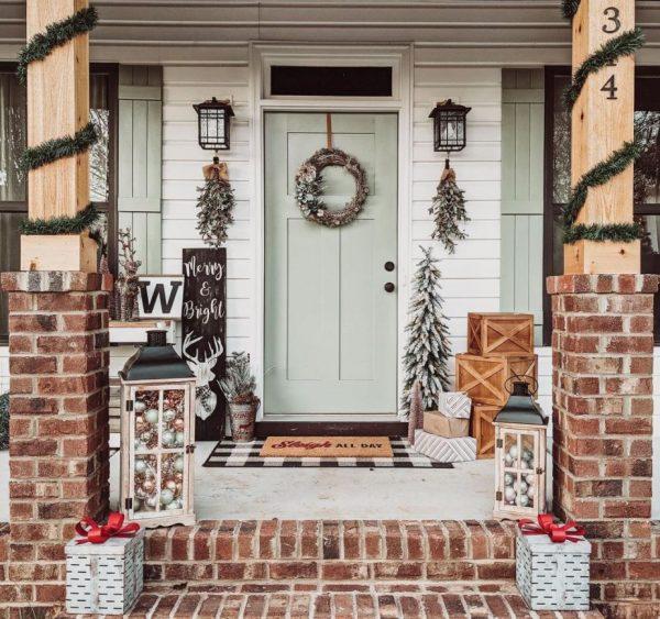 decoracion navideña para puertas