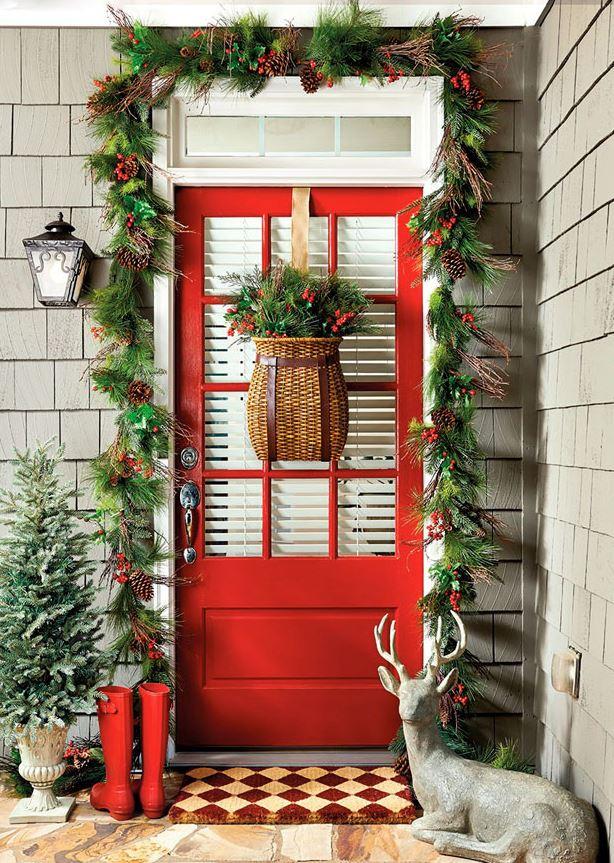 decoracion navideña para puertas de entrada