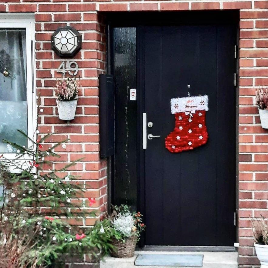 decoracion navideña puertas