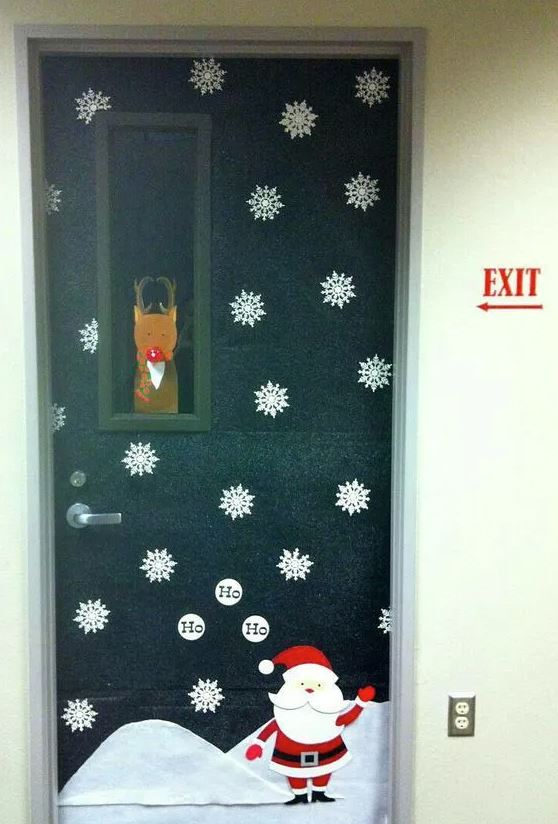 pegatinas navideñas para puertas