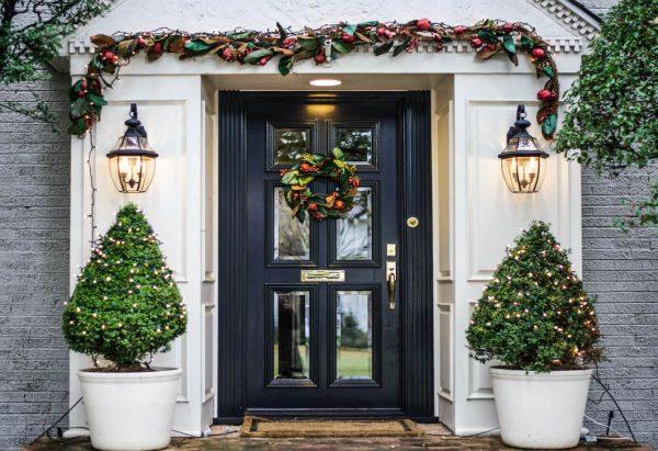 puertas decoradas navidad