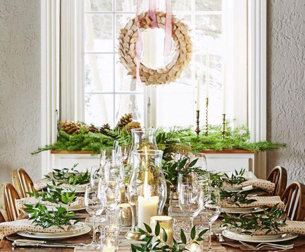 adornos mesa navidad