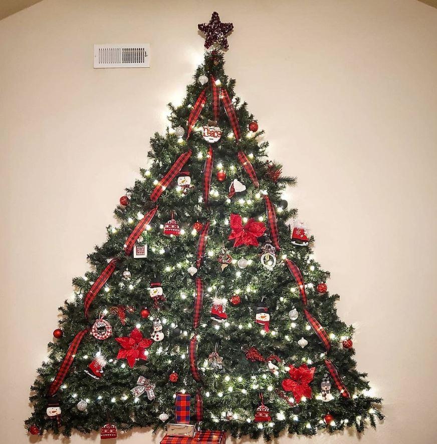 arbol de navidad de pared como hacerlo