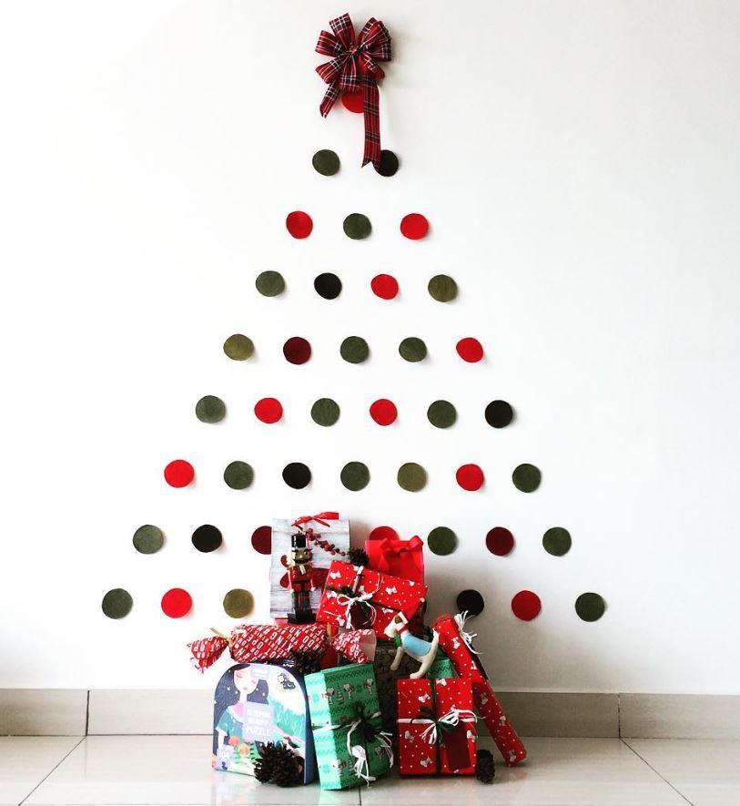 arbol de navidad en cartulina para pared