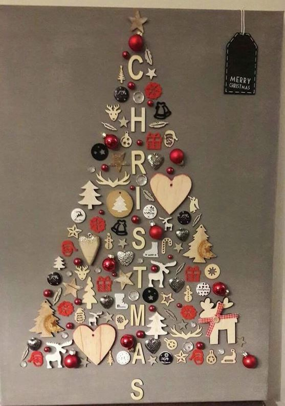 arbol de navidad en pared ideas