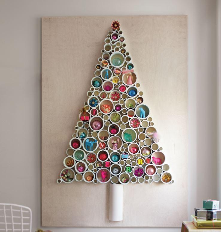 50 Ideas De árbol De Navidad En La Pared Guía