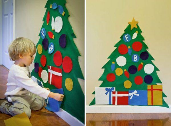 arbol navideño de cartulina papel niños