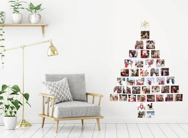 arbol navideño de pared fotos
