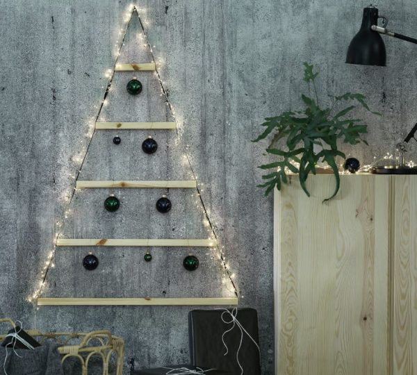 arboles de navidad de madera para pared
