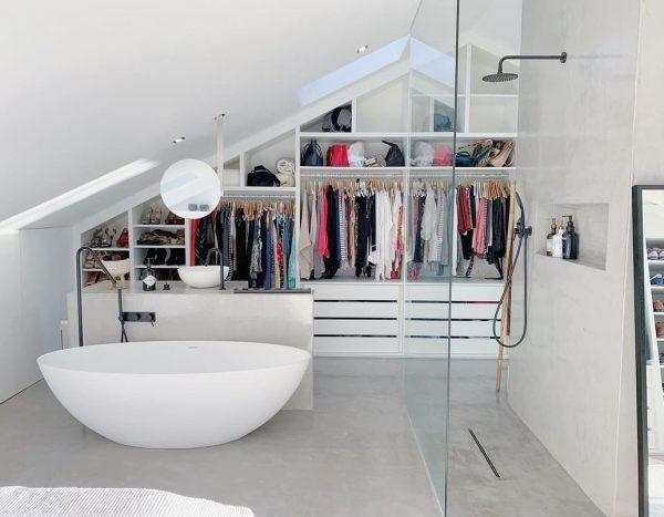 bañera vestidor dormitorio