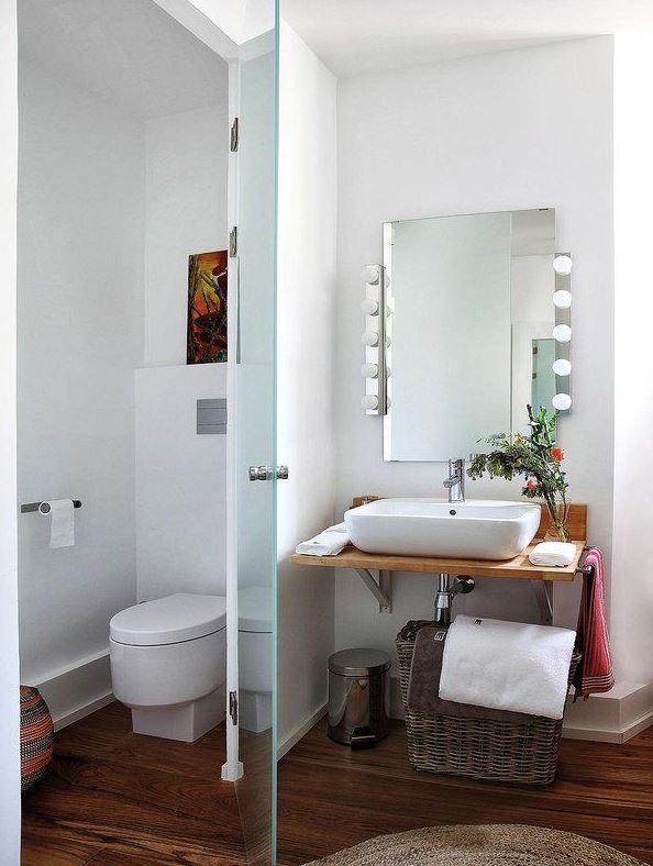 baño en suite con antebaño