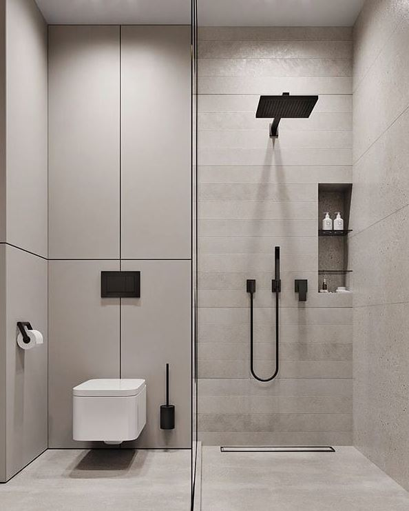 baño minimalista pequeño moderno