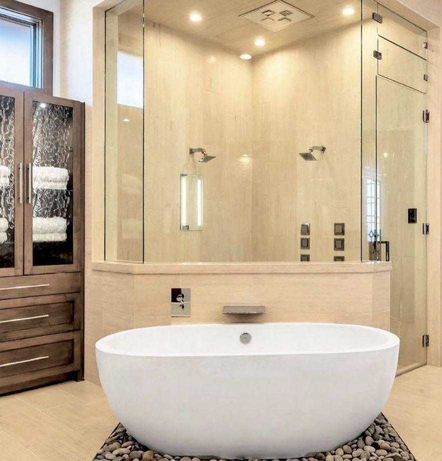 baños con ducha y bañera pequeños