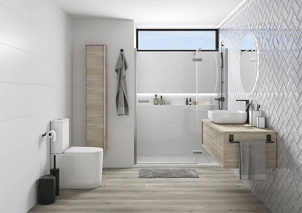 baños pequeños con ducha modernos
