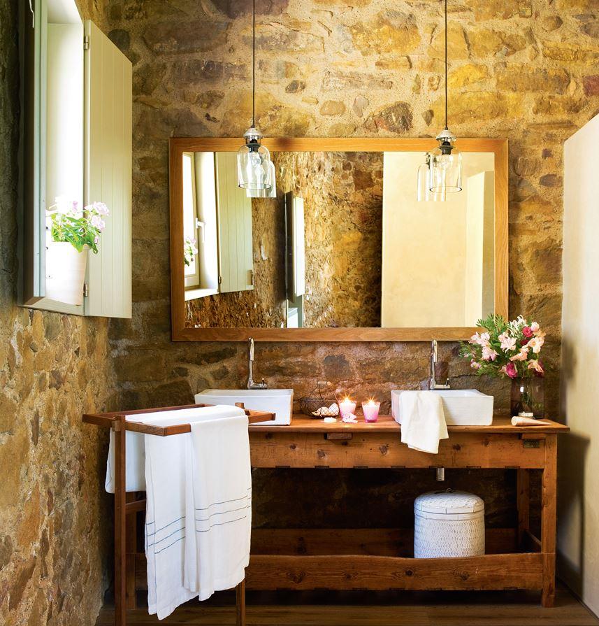 baños rusticos de obra