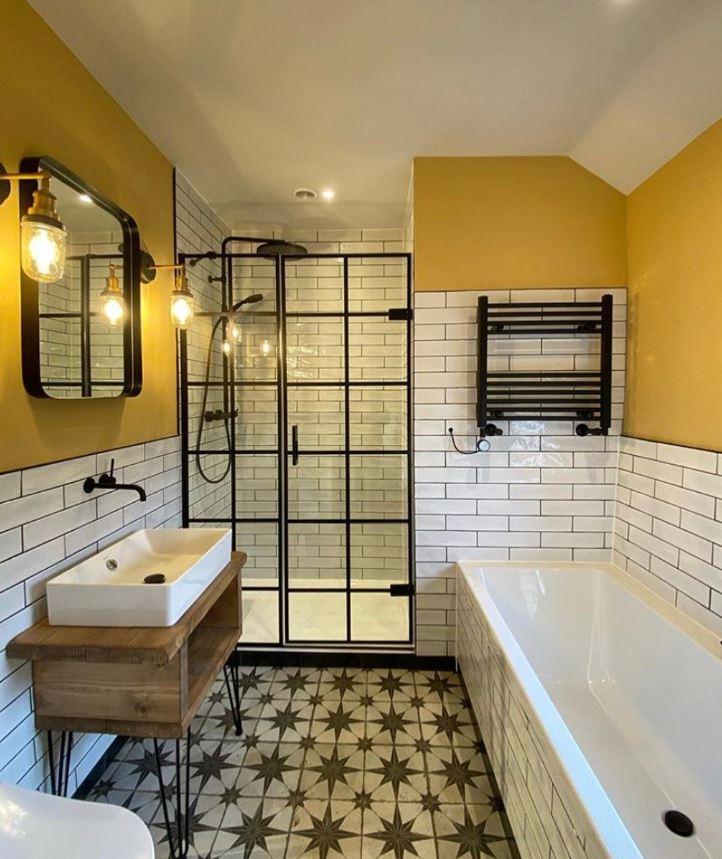baños rusticos modernos pequeños con ducha