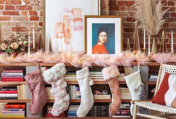 calcetines de navidad para colgar personalizados