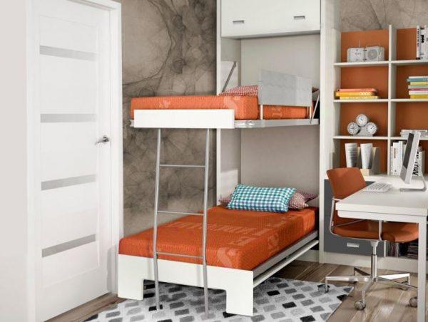 cama empotrada litera habitacion niños