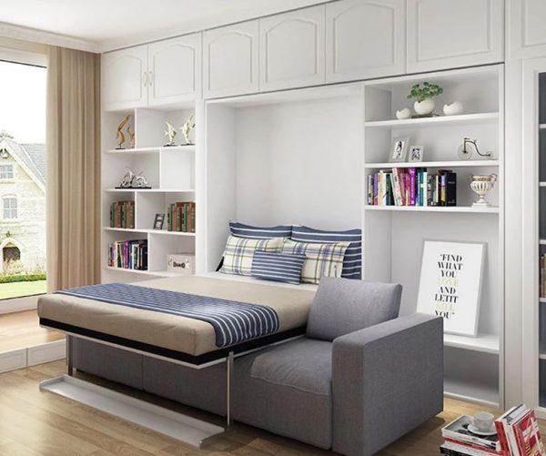 camas en alto para espacios pequeños