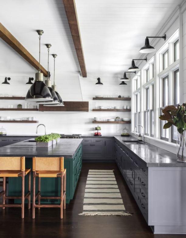 cocina con isla central modernas