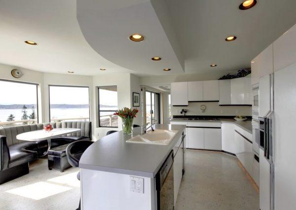 cocinas con islas abiertas al salon