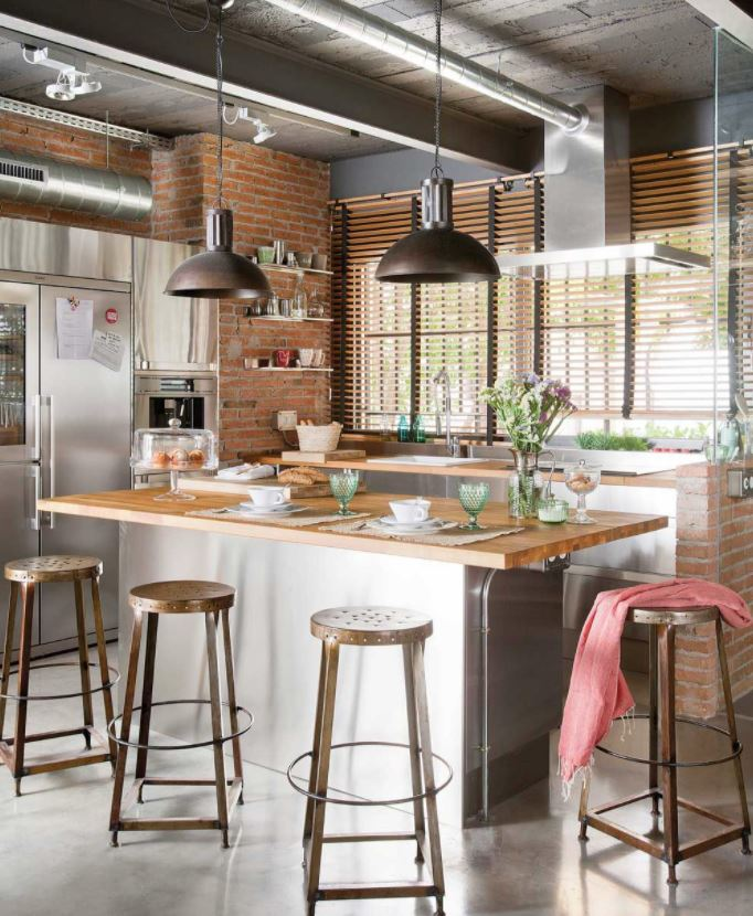 cocinas estilo industrial moderno