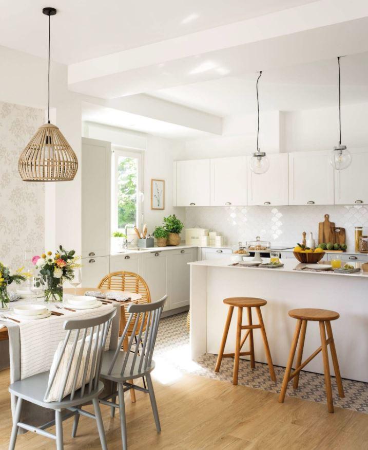 combinacion de colores para muebles de cocina